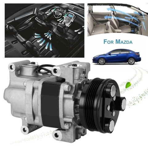 Cars Air Conditioning AC Compressor 57463 Replacement For MAZDA 3 For MAZDA 5 - silver & black