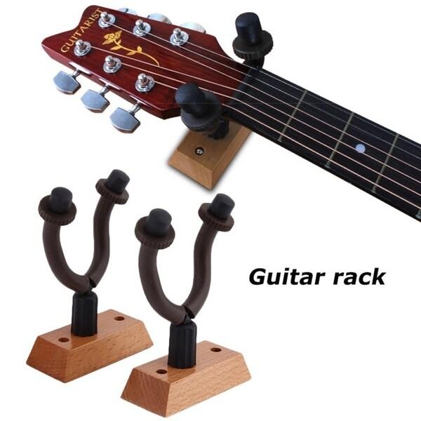 2 Hanger Hook Holder Wall Mount Stand Rack Bracket Display For Guitars