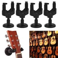 4PCS/SET Guitar Wall Mount Hanger Music Instrument Wall Stand Rack Bracket
