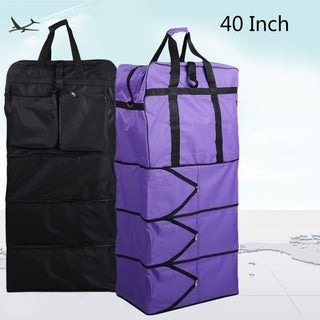 40 Inch Polyester Travel Bag With Wheels Unisex Luggage Bag Wheeled Suitcase