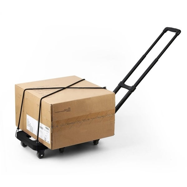 59bbf2d26359 Shop Foldable 6 Wheels Extendable Flat Luggage Cart Hand Trolley ...