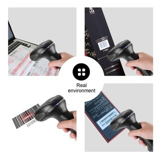 USB Wired Automatic Barcode Scanner Scanning Barcode Reader with Stand Black