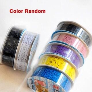Candy Color Lace Decoration Scrapbook Self-Adhesive Sticker Photo Album Tape - random