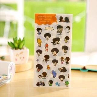 Students Children Everyday Diary Sticker Scrapbook Decoration PVC Stationery - randomly delivered