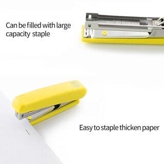 Mini Stapler Plastic Stationary Set Paper Office Binding 12 Pages Save Effort