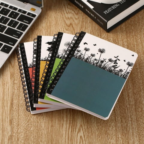 Portable Mini Hard Cover Coil Notebook Home Daily Office Business Notepad