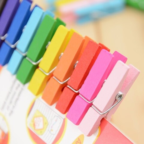 Wooden Office Craft Memo Clips DIY Photo Paper Peg Pin Clothespin Craft Clips