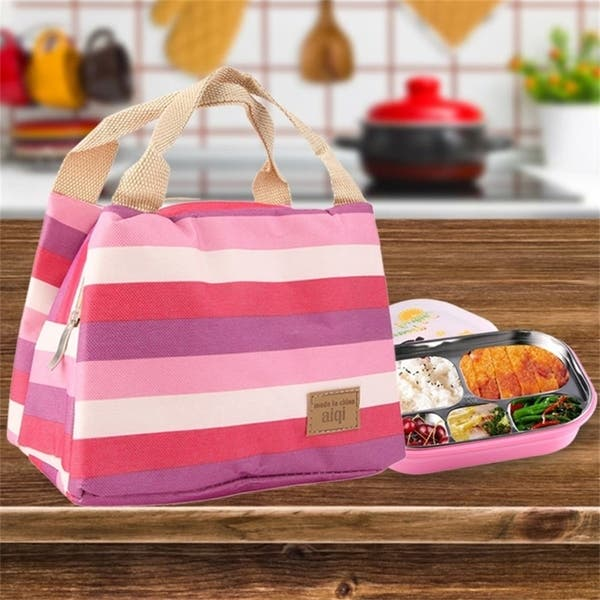 BianchiPatricia Portable Lunch Box Carry Tote Storage Bag Case Thermal Heat Preservation Bag