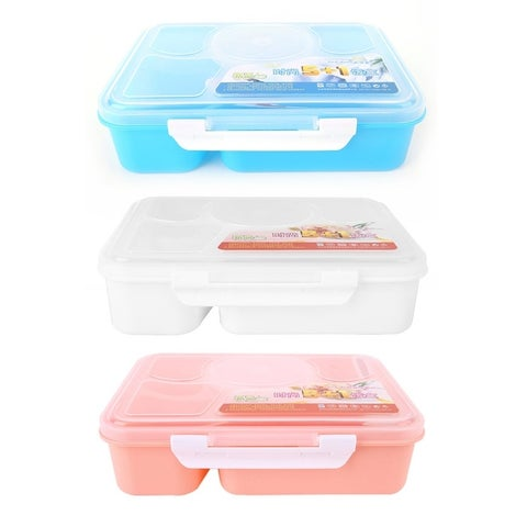 Portable Microwave Lunch Box for Kids 5+1 Food Container Plastic Food Box