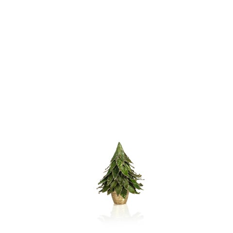 "7"" Tall Christmas Tree in Pot, Small Tabletop Decor, Green Natural Leaf (Set of 2) - N/A"