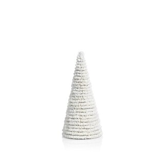 "12"" Tall Clam Shell Christmas Tree Tabletop Decoration, White - N/A"