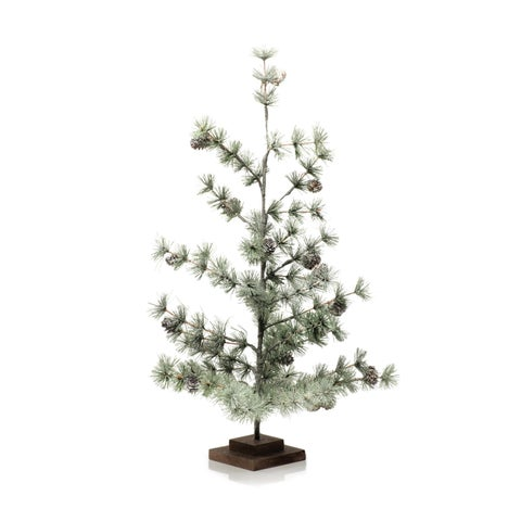 "26"" Tall Plastic Christmas Tree Tabletop Decoration, Winter Green - N/A"