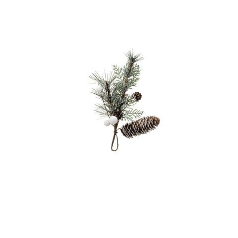 "10"" Long Christmas Pine Pick Decoration, Winter Green (Set of 6) - N/A"