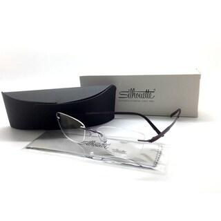 SIlhouette Purple Eyeglasses 4475 40 6058 53 mm Designer Demo Lenses