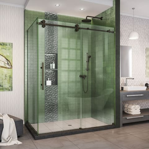 "DreamLine Enigma-XO 34 1/2 in. D x 50 - 54 in. W x 76 in. H Sliding Shower Enclosure - 34.5"" x 50"" - 54"""