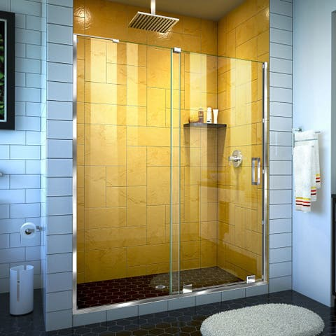 "DreamLine Mirage-Z 50-54 in. W x 72 in. H Frameless Sliding Shower Door - 50"" - 54"" W"