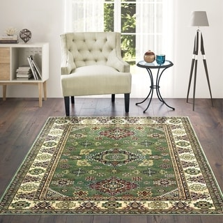 Westfield Home Lelaliah Remiel Green Faux Silk Area Rug - 10' x 14'