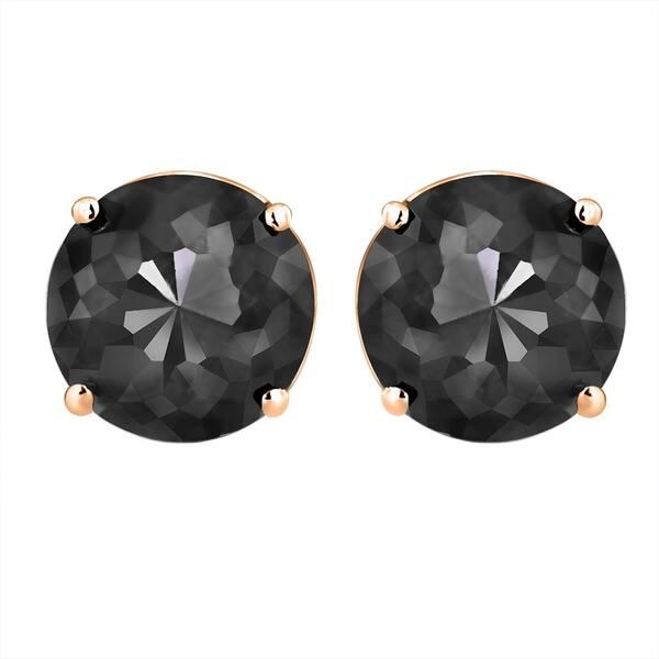 c7ec97f1ec86f Shop 14k Ross Gold Earrings, Black Diamond Stud Earrings - Free ...
