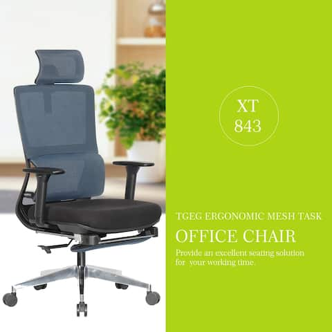 TGEG Pro Ergonomic Multi Function Mesh Office Chair with Foot Rest