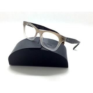 Prada VPR 11S UBJ-1O1 Clear Beige/Havana Authentic Eyeglasses 51mm w/Case