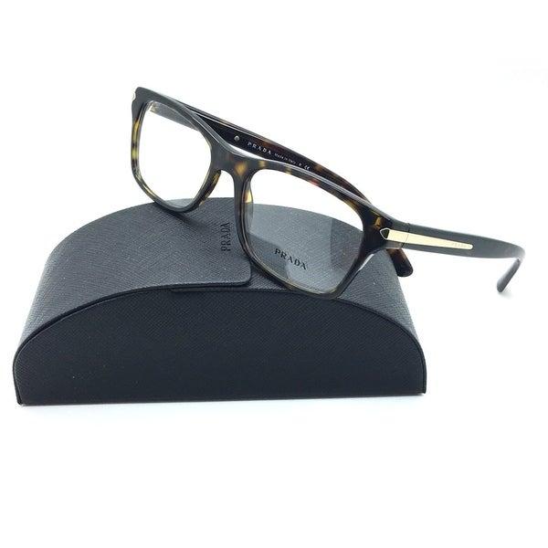 a9fd8c83c1c Shop Prada Tortoise Eyeglasses VPR 16S 2AU 1O1 54 mm Designer Demo Lenses -  Free Shipping Today - Overstock - 23106506