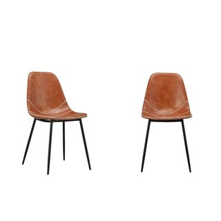 Jose Modern Modern Dining Chair- Orange PU (Set of Two)