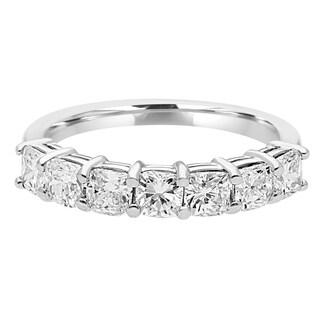 Wedding Band White Gold Diamond 2.00 Carat TW Diamond