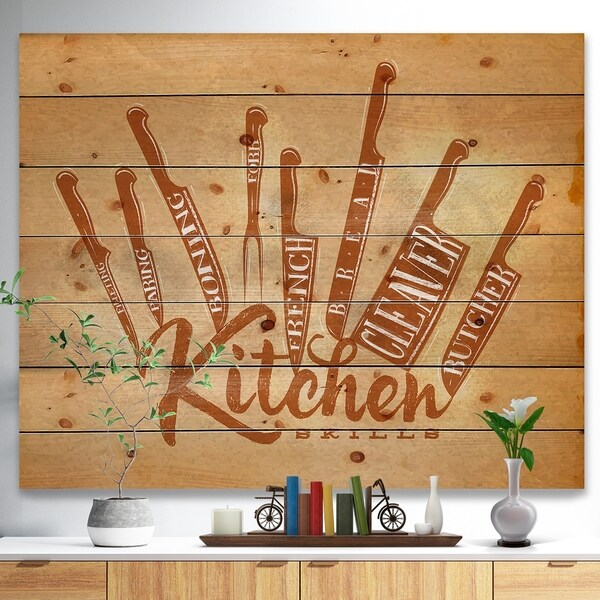 shop meat cutting knifes poster craft food painting print on