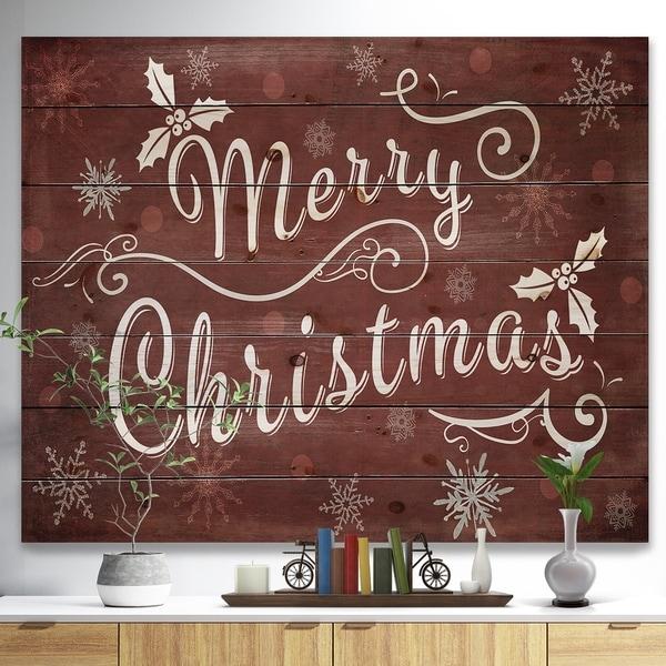 Shop merry christmas season greetings on red print on natural pine x27merry christmas season greetings on redx27 print on natural m4hsunfo