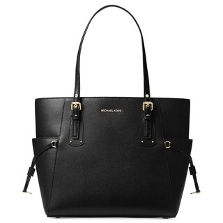 4acc1617a793 Shop MICHAEL Michael Kors Voyager East West Tote Black - Free Shipping Today  - Overstock - 23107810