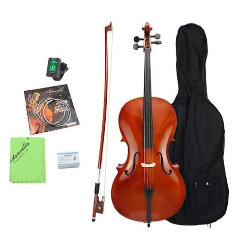 4/4 Cello Set Student Acoustic Bridge Full Size Cello For Cello Beginner