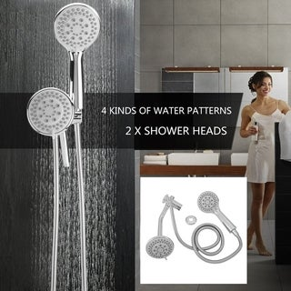 Handheld Bathroom Shower Head Set Wall Mounted Dual Head