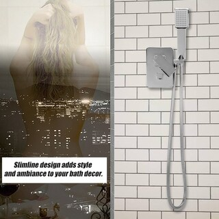 Bathroom Shower Faucet Set 8 Inch LED Rainfall Shower With Handheld Shower
