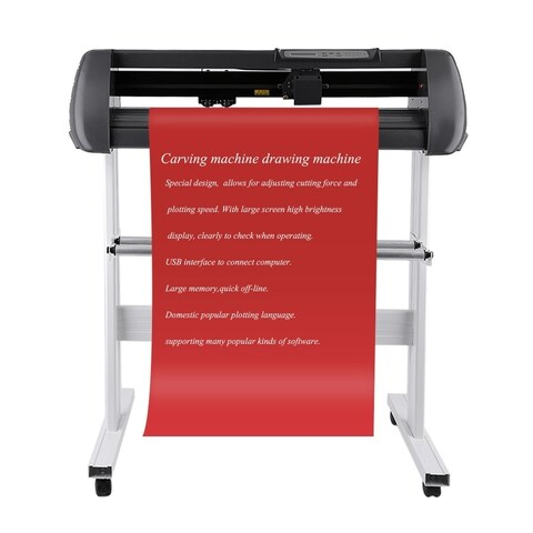 "100-240V Vinyl Cutter With Stand Cutting Plotter Kits Contour Cut Plotte 28"" - Black"