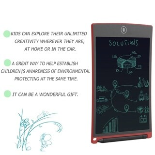 8.5inch LCD Writer Tablet Writting Drawing Pad Paperless Memo Message Board - Red