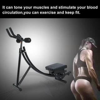 Abs Abdominal Exercise Machine Ab Coaster Trainer Muscle Workout Equipment - Black