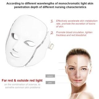 LED 7-Color Light Microcurrent Skin Rejuvenation Facial Mask