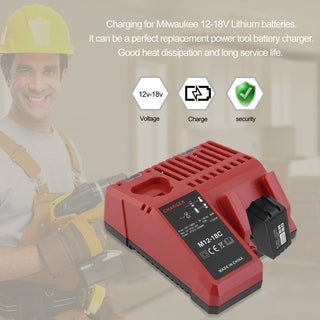 12-18V Lithium Battery Charger For Milwaukee Professional Charging Device - RED
