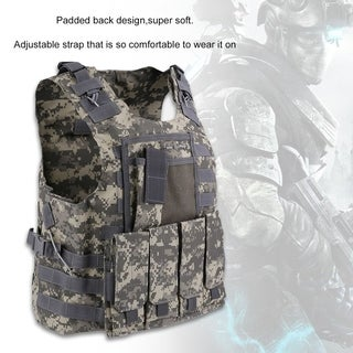 US Army Tactical Military Hunting Combat Assault Carrier Vest Adjustable Top - acu color