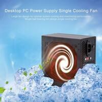 Max 650W Actual 400W 110V Desktop Computer PC Power Supply Single Cooling Fan - Black