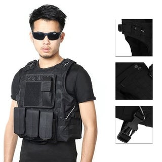 Amphibious Hunting Military Tactical Vest Outdoor Sports Jungle Equipment - Black