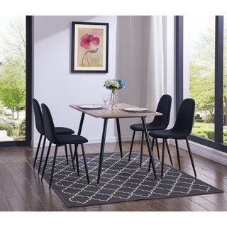 IDS Simplistic Style MDF Dining Table and Chair 5 Pieces Set With Modern Style Dining Chair Set.