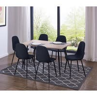IDS Simplistic Style MDF Dining Table and Heavy Duty Metal Structure Modern Design Chair 7 Pieces Set
