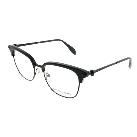 Alexander McQueen Square AM 0152O Iconic 001 Unisex Black Frame Eyeglasses
