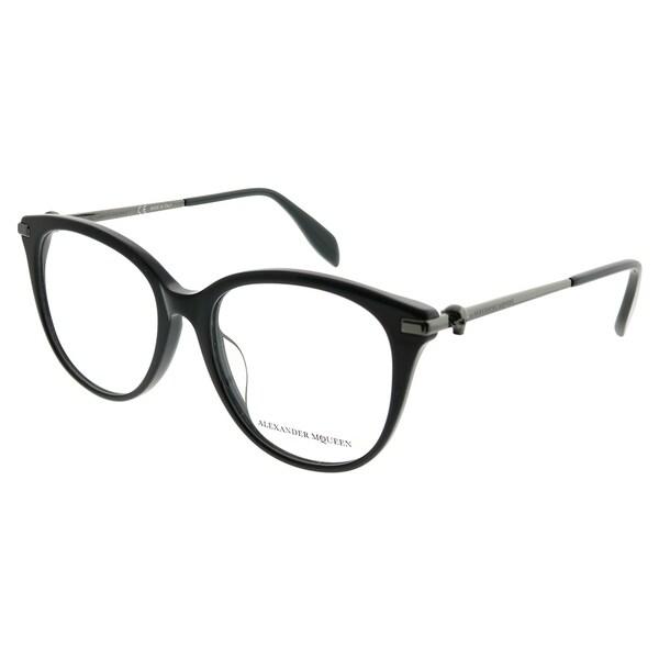 e674854e8ec Alexander McQueen Square AM 0154OA Iconic 001 Women Black Frame Eyeglasses
