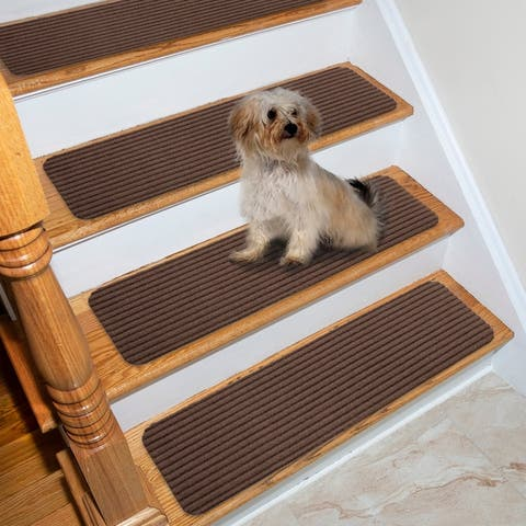 Lifesaver Scrape Rib Non-Slip Pet Friendly Stair Treads (Set of 13)