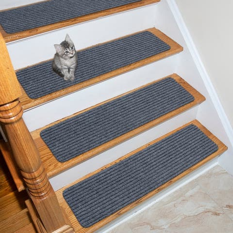 Lifesaver Scrape Rib Non-Slip Pet Friendly Stair Treads (Set of 7)