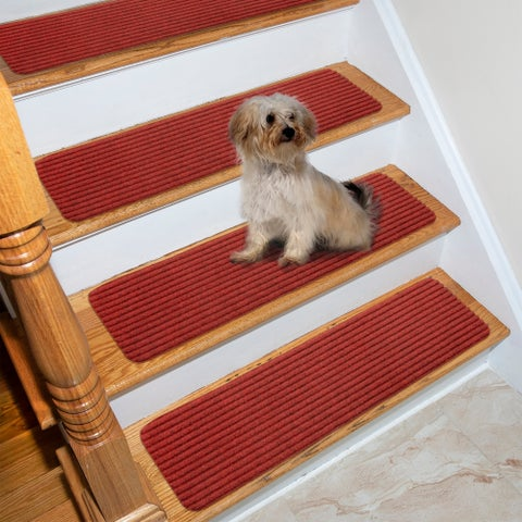 "Lifesaver Scrape Rib Non-Slip Pet Friendly Stair Treads (Set of 13) - 8"" x 30"""