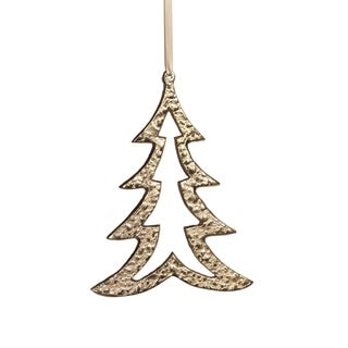 "Link to 6.25"" Tall Aluminum Christmas Tree Ornament, Gold (Set of 6) Similar Items in Christmas Decorations"