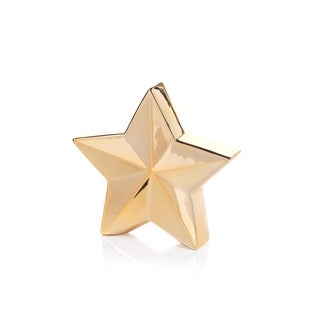 "9.25"" Tall 5-Point Christmas Star Tabletop Decor, Gold (Set of 2)"